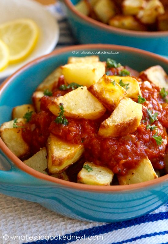 Patatas Bravas - this delicious Spanish tapa is super easy to make at home!