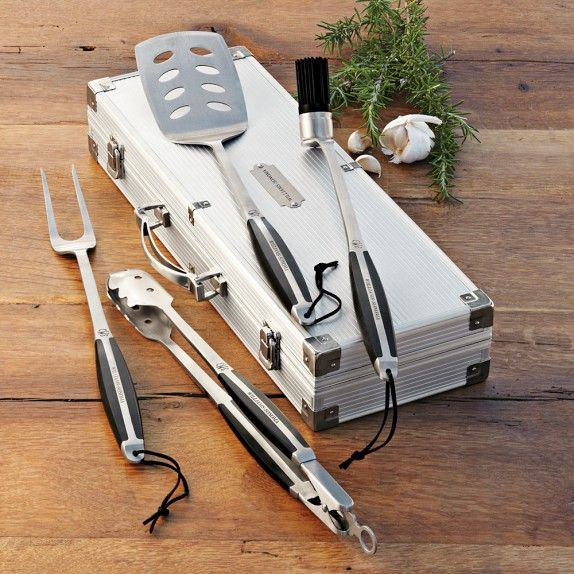 Monogrammed Williams-Sonoma BBQ Tools Set   Williams-Sonoma