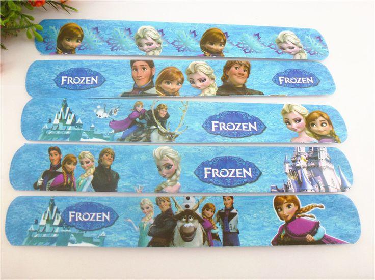 Lotto di braccialetti slap band di Anna elsa Frozen la principessa regno di ghiaccio gadget regalo fine festa compleanno stock  rivendita