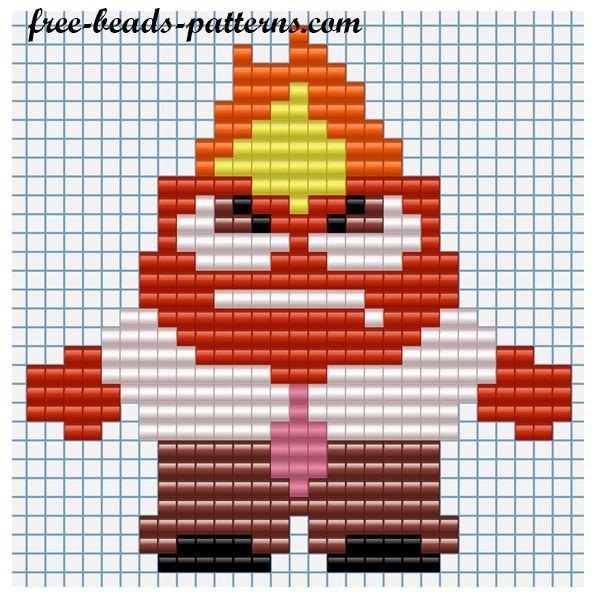 Anger - Inside Out Perler Bead Pattern