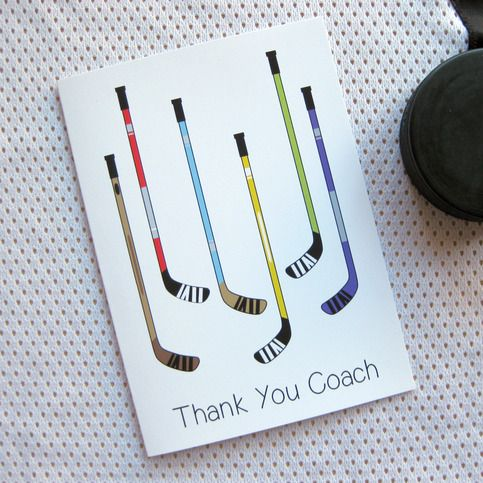 thank you hockey coach cards variety pack saucy mitts hockey