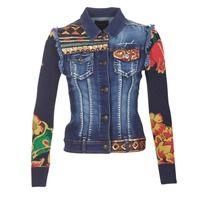 Υφασμάτινα Γυναίκα Τζιν Μπουφάν/Jacket  Desigual GROFI Μπλέ