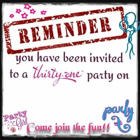 Thirty One Gifts Reminder