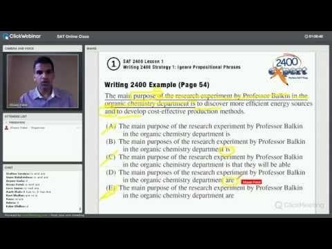 New SAT Prep Course - 2400 Expert SAT Prep Classes