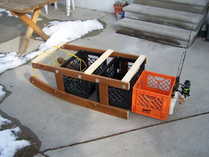 1000 images about dyi ice fishing toboggans and sleds on for Ice fishing sled ideas