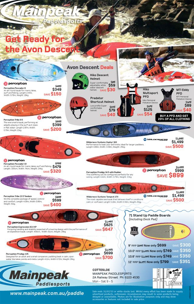 Paddle sale! Loads of sweet gear, just to get you kitted out for the winter water adventures. FINISHED!
