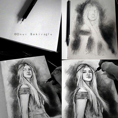 #Sketches with charcoal pencil. Facebook/bekirogluonur #onurbekiroğlu #bekirogluonur