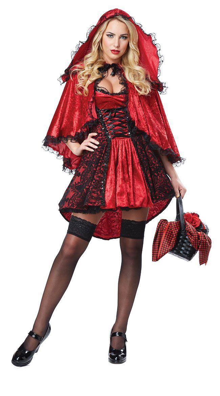 Costume Da Cappuccetto Rosso Infuocato Costume Da Cappuccetto Rosso Cappuccetto Rosso Rotkapchen Kostum Rotkappchen Kostum Damen Rotkappchen