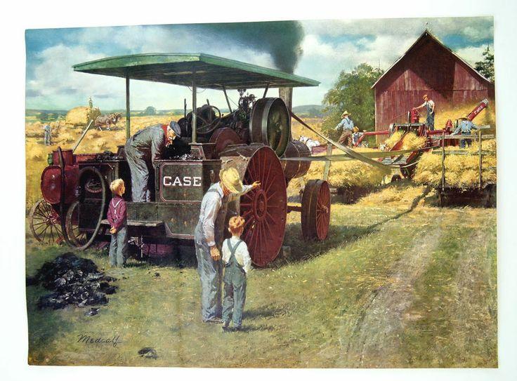 Vintage 1950's Bill Medcalf William Medcalf Case Tractors ...