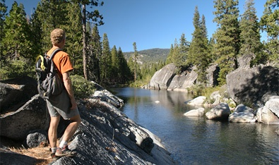 A guided 4 day hike in the Sierra.