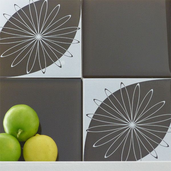 The Shanklin on Clear Tile Tattoos allow for an easy DIY kitchen or