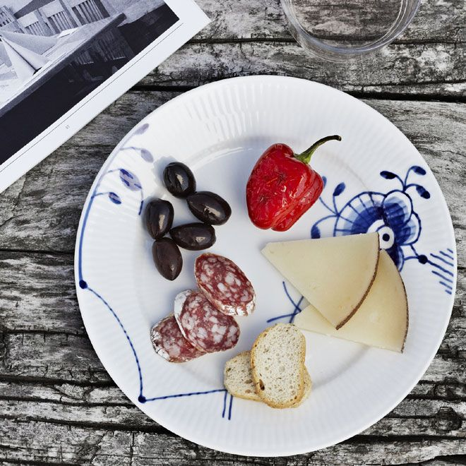 Blue Fluted Mega tapas plate in the 2012 Royal Copenhagen Catalogue