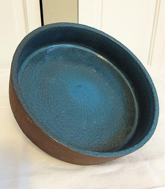 Knabstrup Blue Bowl / Danish Pottery / Logo s and Initials /