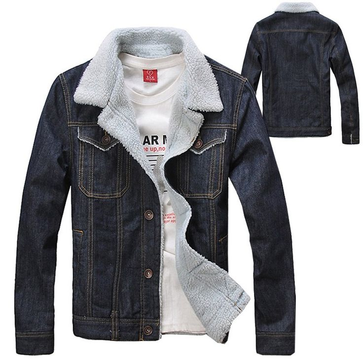 2013 Autumn Winter Fashion Men's Clothing , Men Warm Thick Quilted Denim Jacket Coat , Jean Outerwear The jackets Coats for Man(China (Mainland))