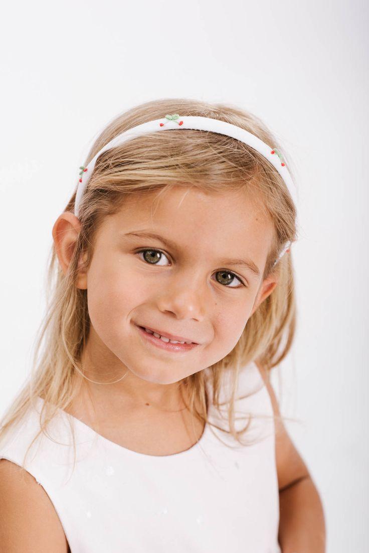 www.mamibu.com  www.mamibu.com  #cerchietto #bambina con #ciliegie #ricamate  #mamibu #abbigliamento #neonati e #bambini #madeinitaly