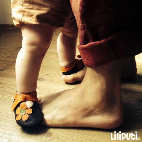 Dancing Princess  First steps with Dad...Liliputi Style  #softbabysandal #LiliputiStyle