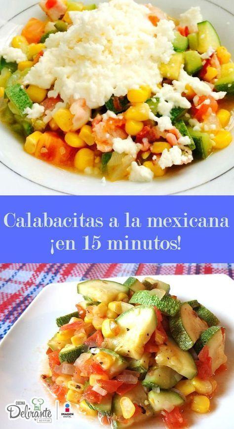 receta de calabacitas a la mexicana | CocinaDelirante