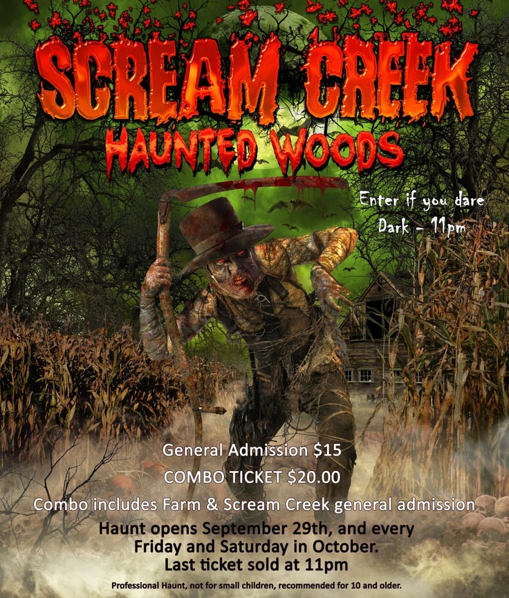 scream creek haunted attractions honeysuckle hill farm tn pats favorite - Indiana Halloween Attractions
