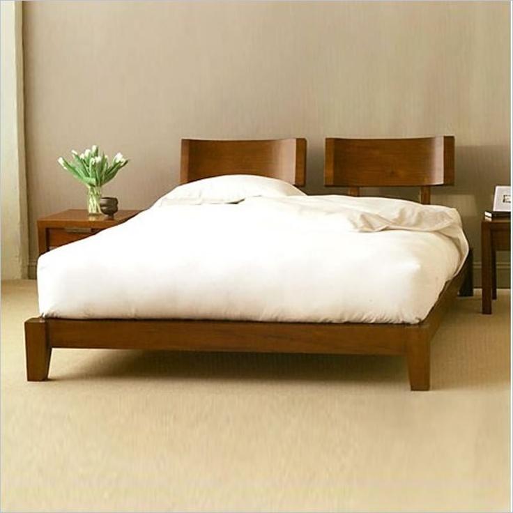 King platform bed japanese style and platform beds on pinterest - Japanese style platform bed plans ...