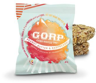 Innotech is a proud Distributor of GORP bars!! This is the Raspberry Peanut Butter Flavour ( like PB & J )