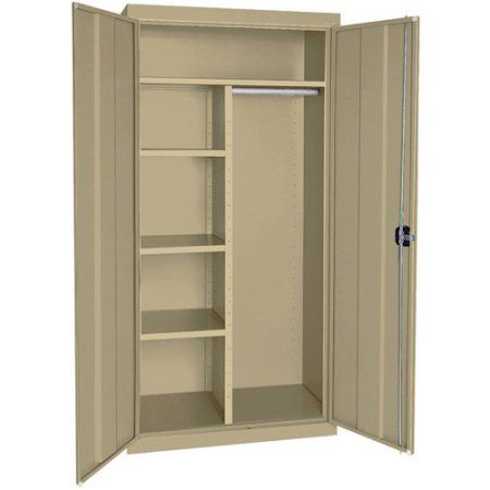 Elite Series Combination Cabinet with Adjustable Shelves, 36 inchW x 24 inchD x 78 inchH, Tropic Sand, Beige