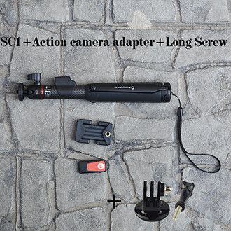 Carbon Fiber Smartphone/GoPro Action Camera Tripod Handheld Selfie Stick With Wireless Bluetooth Remote Shutter