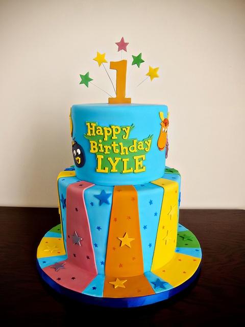 Lyle's Backyardigans Cake by Love & Sugar Bakeshop, via Flickr