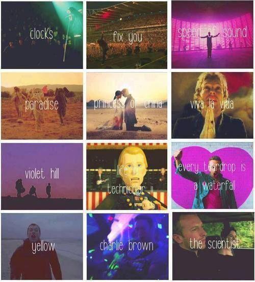 My favorite Coldplay songs