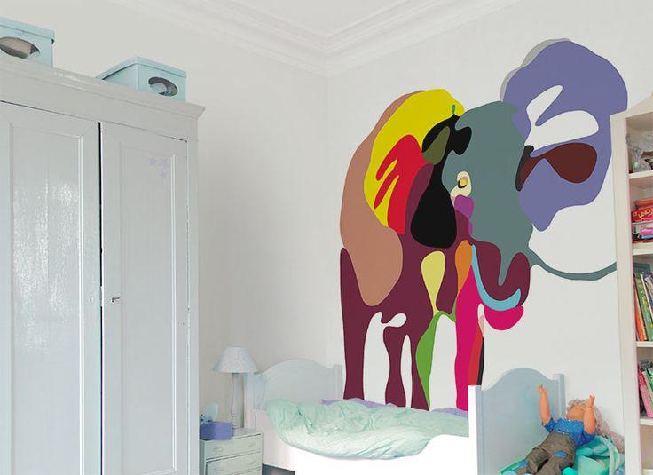 Ohmywall Papier peint éléphant 3 Philippe Baudelocque