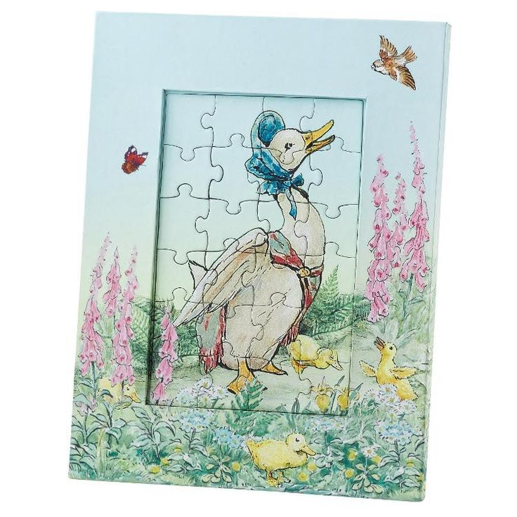 Jemima Puddle-duck - Jemima Puddle-duck 22cm Jigsaw and Photo Frame. Product code: A24146