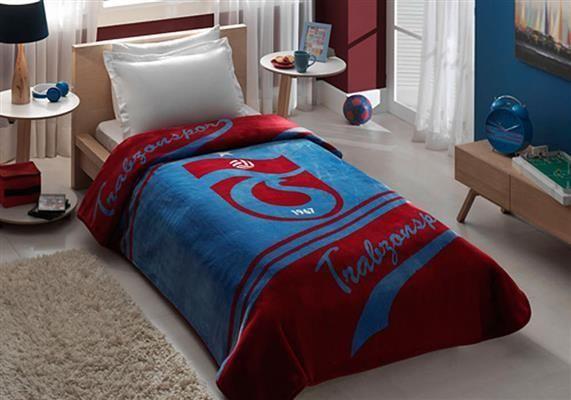 Taç Lisanslı Tek Kişilik Trabzonspor Logo Battaniye | cazip geldi