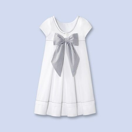 Pleats and Bow Dress