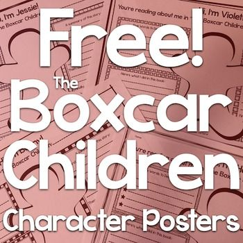 "Check out how I used these posters at Busy Bees Activities!These four posters are perfect for classrooms reading ""The Box Car Children"" by Gertrude Chandler Warner.  Students will draw a picture of one of the four main characters - Jessie, Henry, Violet, and Benny - describe the character and their actions, and summarize the story as a whole."