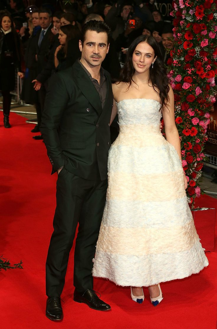 Colin Farrrell and Jessica Brown Findlay at the UK premiere of New York Winter's Tale.