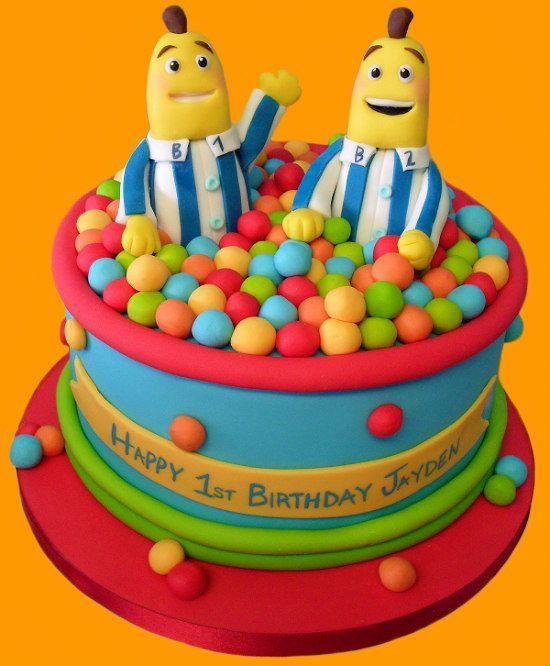 Bananas in pyjamas cake with balls