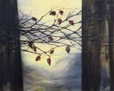 "Saatchi Art Artist Marjan Fahimi;  ""The Gate"" - Oil on Canvas - 80x100 cm #art"