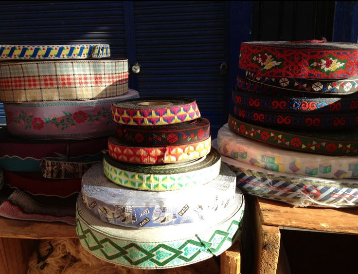 One-of-a-kind vintage haberdashery stall in Portobello Road market between Cambridge Gardens and Oxford Gardens.