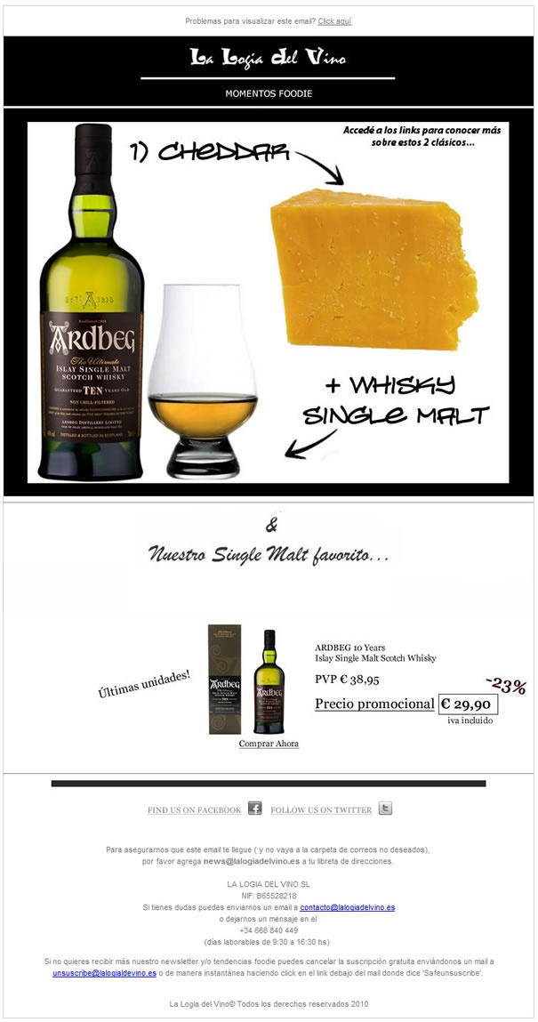 Whisky Single Malt + Queso Cheddar