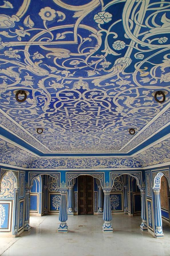 Blue Room, City Palace, Jaipur, India #places