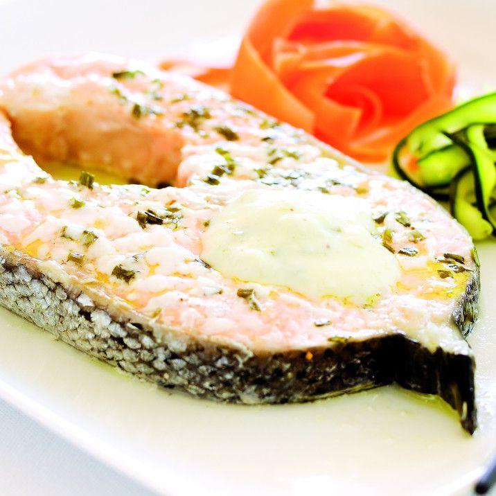 Receita Salmão com Legumes ao Vapor por Equipa Bimby - Categoria da receita Pratos principais Peixe