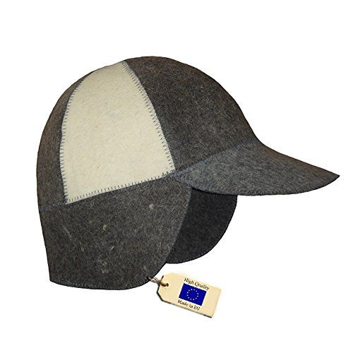 Allforsauna Sauna Hat Russian Banya Cap  100 Wool Felt  Modern Lightweight Head Protection for Men and Women  Baseball WD * Details on product can be viewed by clicking the image