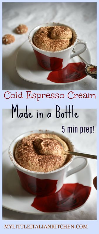 Cold espresso cream. An indulging dessert made in a bottle in 5 minutes!