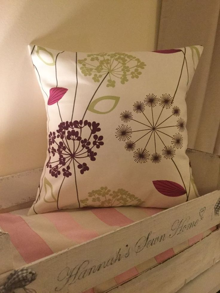Handmade 16 Inch Cushion Cover Made From Designer Fabric Purple And Green Alium