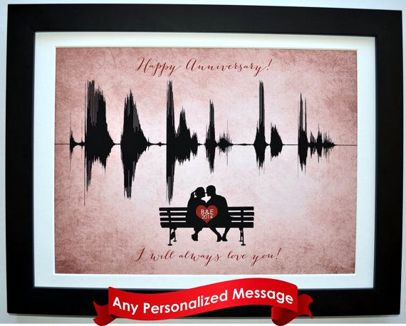 Personalized one 1 year anniversary gifts by CreativeWavePrints