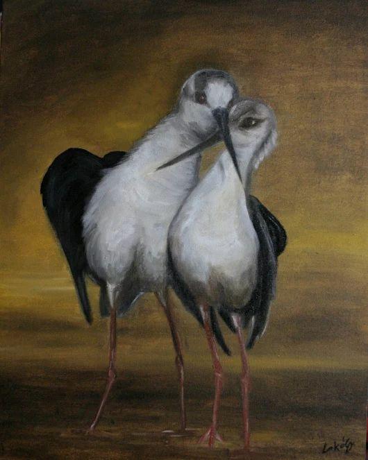 Imádlak Olaj festmény 50 x 60 cm
