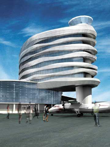 New Tower at Edmonton International Airport