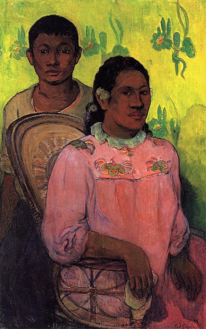 Tahitian woman and boy - Paul Gauguin -repinned by http://LinusGallery.com  #art #artists