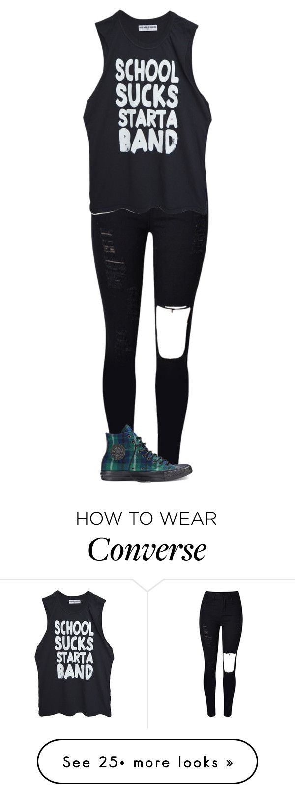 """""""Untitled #1323"""" by kayla3n on Polyvore featuring High Heels Suicide, Converse, women's clothing, women, female, woman, misses and juniors"""