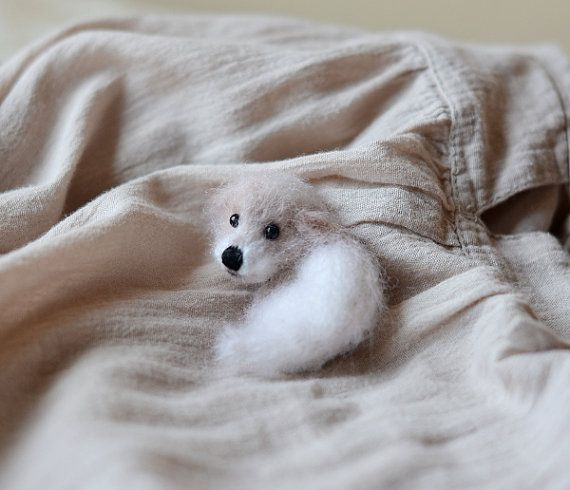Puppy dog brooch pin eco friendly gifts dog jewelry dog stuffed animal wool animal lover gift miniature animal brooch ready to ship
