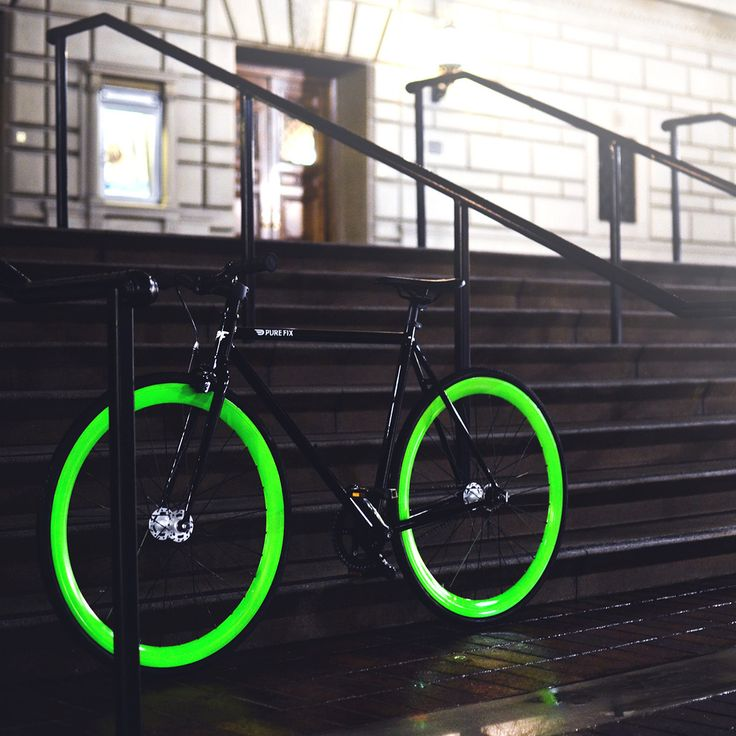 Hotel With a black frame and green wheels that shine into the night, you'll look as good as glow! Get ready to take your night riding to a whole new level. After months of experimentation, we've perfe